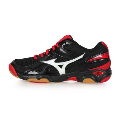 【MIZUNO】WAVE TWISTER 4 男女排球鞋-美津濃 黑紅23