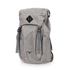 【MIZUNO】OUTDOOR背包-後背包 雙肩包 旅行包 美津濃 淺灰