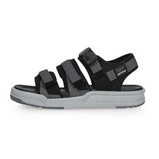 【LOTTO】男織帶涼鞋-海邊 海灘 沙灘 戲水 魔鬼氈 灰黑