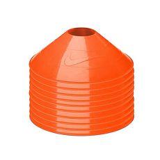 【NIKE】碟形訓練用具-足球 田徑 直排輪 健身 十入 螢光橘