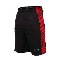 【FIRESTAR】男籃球短褲-慢跑 路跑 五分褲 黑紅