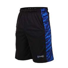 【FIRESTAR】男籃球短褲-慢跑 路跑 五分褲 黑寶藍