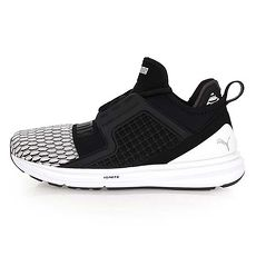 【PUMA】IGNITE LIMITLESS COLORBLOCK 女休閒運動鞋 黑白24.5