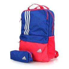 【ADIDAS】運動後背包-雙肩包 書包 愛迪達 藍紅