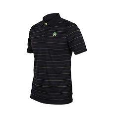 【FIRESTAR】男短袖高爾夫POLO衫-高爾夫球 慢跑 路跑 黑螢光綠