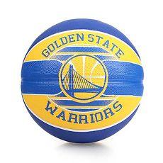 【SPALDING】勇士 WARRIORS 籃球-戶外 NBA 隊徽球 斯伯丁 藍黃F