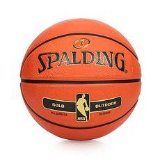 【SPALDING】NBA-RUBBER 金色籃球 -7號球 室外 戶外 耐磨 斯伯丁 橘金