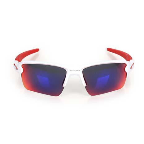 【OAKLEY】FLAK 2.0 XL 太陽眼鏡-附硬盒鼻墊 慢跑 路跑 單車 白紅F