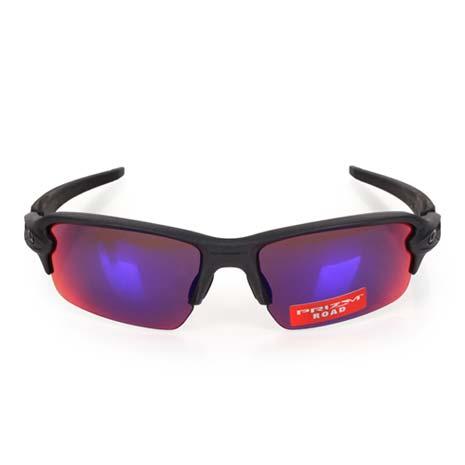 【OAKLEY】FLAK 2.0 偏光太陽眼鏡-附硬盒鼻墊 慢跑 路跑 單車 深灰紫F