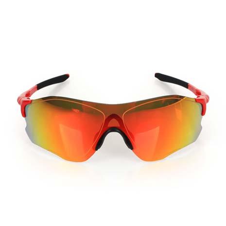 【OAKLEY】EVZERO PATH 道路專用太陽眼鏡-附硬盒鼻墊 慢跑 單車 黑紅金F