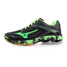 【MIZUNO】WAVE LIGHTNING Z3 男排球鞋-美津濃 黑綠