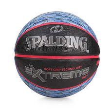 【SPALDING】SGT-RUBBER 籃球-戶外 運動 7號球 斯伯丁 黑藍紅F