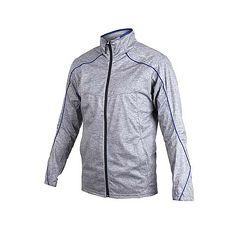 【MIZUNO】男平織運動外套-立領外套 慢跑 路跑 美津濃 灰藍