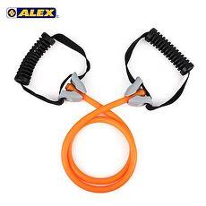 【ALEX】高強度拉力繩-輕型-拉力帶 瑜珈繩 彈力繩 健身阻力帶 阻力繩 訓練帶 橘