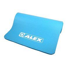【ALEX】運動地墊10MM-圓角-瑜珈墊 塑身 止滑墊 附收納袋 藍