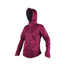 【MIZUNO】女防風保暖連帽外套-防潑水 刷毛 慢跑 路跑 美津濃 麻花紫黑L