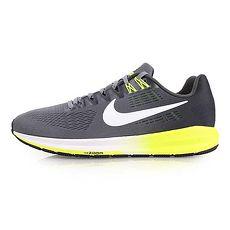 【NIKE】AIR ZOOM STRUCTURE 21 男氣墊支撐慢跑鞋-路跑 灰白27.5