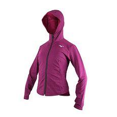 【MIZUNO】女針織外套-慢跑 路跑 立領 刷毛 連帽外套 美津濃 深紫白
