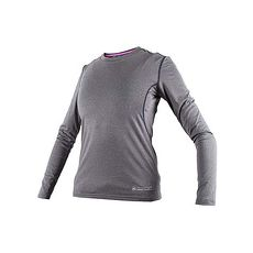 【FIRESTAR】女機能緊身長袖-T恤 長T 健身 瑜珈 麻花灰
