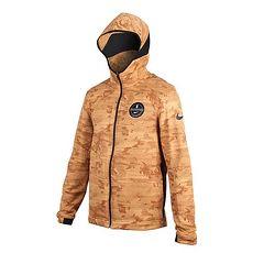 【NIKE】男針織外套-連帽外套 慢跑 路跑 黃咖啡L