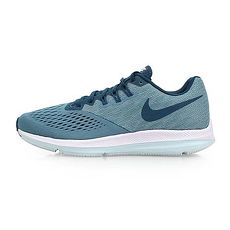 【NIKE】ZOOM WINFLO 4 女氣墊慢跑鞋-路跑 訓練 淺藍丈青26.5
