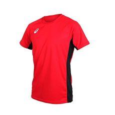 【ASICS】男短袖排球練習T恤-短T T恤 亞瑟士 紅白