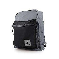【NIKE】JORDAN SKYLINE FLIGHT 後小背包-收納包 雙肩包 旅行袋 灰黑F
