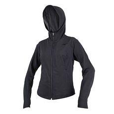 【MIZUNO】女針織外套-慢跑 路跑 立領 刷毛 連帽外套 美津濃 深灰黑