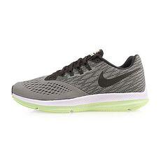 【NIKE】ZOOM WINFLO 4 男氣墊慢跑鞋-訓練 路跑 綠黑白26.5