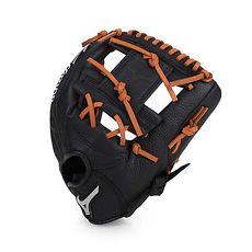 【MIZUNO】少年用棒壘球手套-兒童 右投 競賽 美津濃 黑咖啡