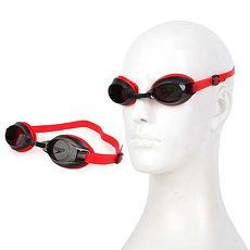 【SPEEDO】成人基礎型泳鏡 JET-抗UV 游泳 蛙鏡 紅黑F