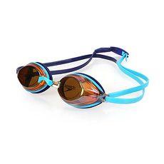 【SPEEDO】VENGEANCE MIRROR 成人競技鏡面泳鏡-游泳 蛙鏡 抗UV 藍水藍F