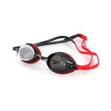 【SPEEDO】VENGEANCE成人競技泳鏡-游泳 蛙鏡 抗UV 訓練 附鼻橋 紅灰F