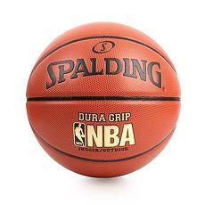【SPALDING】NBA DURA GRIP I/O SZ7合成皮籃球-7號球 斯伯丁 橘金F