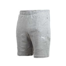 【PUMA】EVOSTRIPE 男基本系列輕量短褲-慢跑 路跑 灰銀L