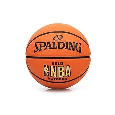 【SPALDING】NBA-RUBBER 7號籃球-室外球 斯伯丁 橘金