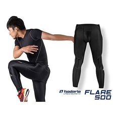 【HODARLA】HR01-FLARE-500 男女台灣製造緊身長褲-功能壓縮 慢跑 路跑 馬拉松 黑