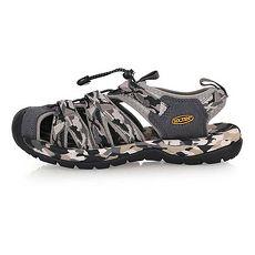 【SOFO】男護指溯溪鞋-拖鞋 休閒涼鞋 海邊 海灘 戲水 迷彩黑灰