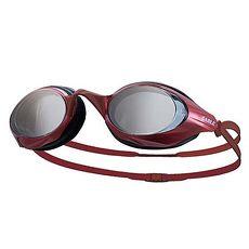 【SABLE】黑貂 競速型塑剛玻璃鏡片泳鏡 游泳-清晰防霧防雜光強光 紅