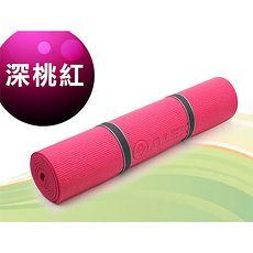 【ALEX】瑜珈墊-有氧 塑身 地墊 深桃紅