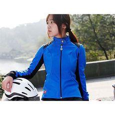 【SOOMOM】虹秀 女抓絨風衣-自行車 車衣 單車 抗寒 保暖 防風 藍