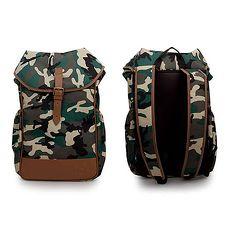 【PUMA】後背包-雙肩包 肩背包 旅行包 迷彩