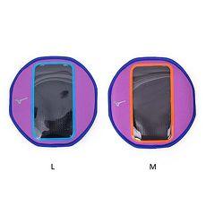 【MIZUNO】手臂包-慢跑 路跑 手機包 5.5吋螢幕適用 美津濃 紫水藍