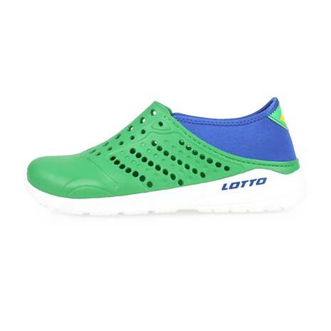 【LOTTO】男女潮流洞洞鞋-游泳 海邊 水陸鞋 懶人鞋 綠藍