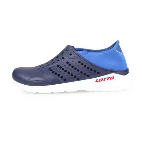 【LOTTO】男女潮流洞洞鞋-游泳 海邊 水陸鞋 懶人鞋 丈青藍