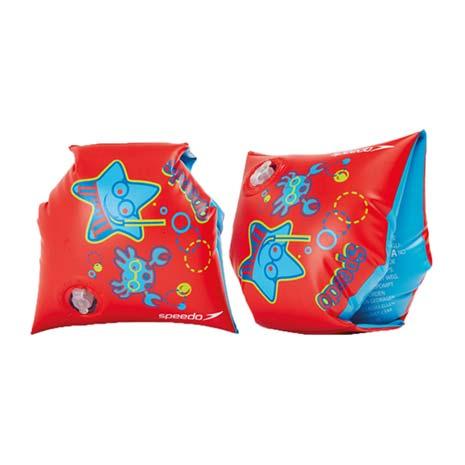 【SPEEDO】兒童浮臂-充氣式 水秀 浮圈 戲水 游泳 紅水藍