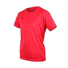 【MIZUNO】男排球短袖T恤-慢跑 美津濃 短T 紅黑