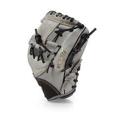 【MIZUNO】少年用手套-右投 美津濃 壘球 棒球 美津濃 灰黑