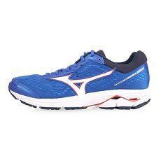 【MIZUNO】WAVE RIDER 22 男慢跑鞋-路跑 訓練 美津濃 藍白紅