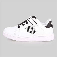 【LOTTO】男女兒童1973經典網球鞋-慢跑 童鞋 白黑